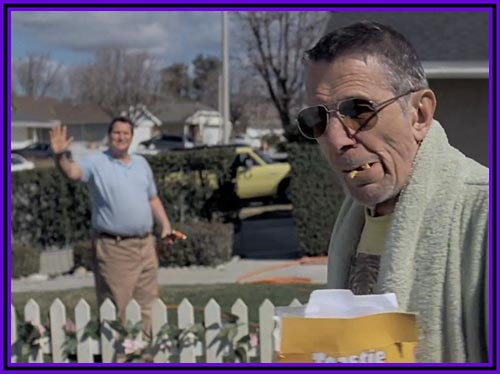 Leonard Nimoy is a Grouchy Old Man in Lazy Song by Bruno Mars