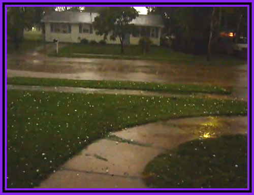 Hail Slams My Home Town Abilene Kansas