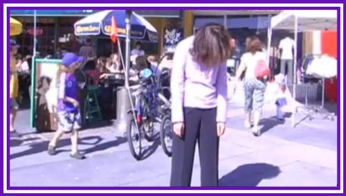 Walkabout Trance style Street Hypnosis in Los Angeles with a blast from the past featuring SMA and a Hypno Statue