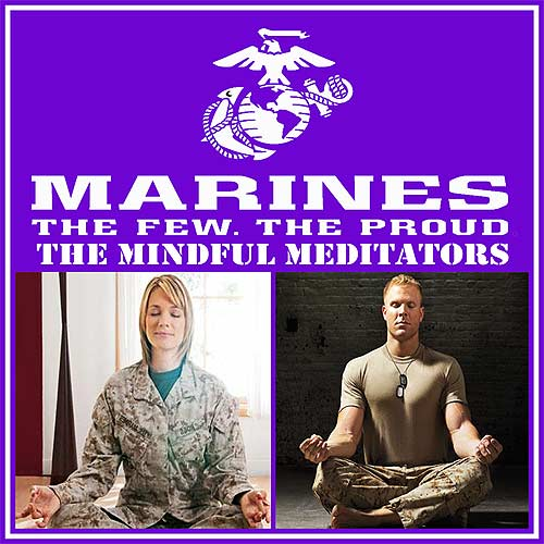 Marines learn Mindful Meditation Techniques